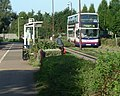Guided bus viewed from cyclepath - geograph.org.uk - 812700.jpg