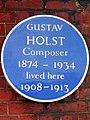 Gustav Holst Composer 1874-1934 lived here 1908-1913.jpg