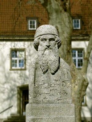 Johannes Gutenberg University Mainz - Statue of Johannes Gutenberg at the University of Mainz