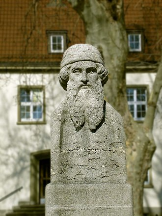 Johannes Gutenberg University Mainz - Statue of Johannes Gutenberg at the University of Mainz