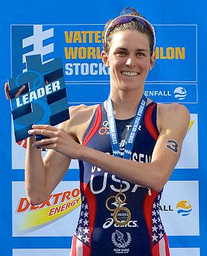 Gwen Jorgensen - Image: Gwen Jorgensen winner in Stockholm 2013 4