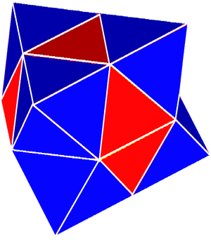 Semiregular polytope - Image: Gyrated alternated cubic honeycomb