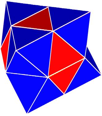 Semiregular polytope - Image: Gyrated alternated cubic honeycomb