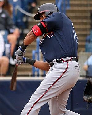 Héctor Olivera (baseball) - Olivera with the Atlanta Braves