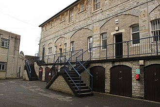 HM Prison Shepton Mallet - The treadwheel was in the ground floor of this building.