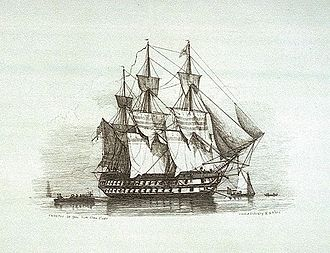 Francis Austen - The third-rate HMS Canopus, which Austen commanded during the pursuit of the French Fleet to the West Indies and back