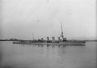 Roger Backhouse - The light cruiser ''HMS Conquest'', which Backhouse commanded during the First World War