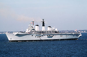 HMS Invincible (R05) visits Norfolk