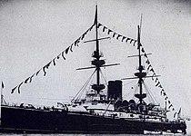 HMS Mars (1896) at Coronation Fleet Review 16 August 1902.jpg