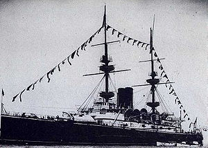 HMS Mars (1896) at Coronation Fleet Review 16 August 1902.jpg