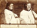 HUA-206620-Portret van twee kanunniken van de Dom Cornelis van Horn en Antonis Taets gekleed als leden van de Utrechtse Jeruzalemsbroederschap.jpg