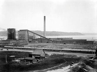 La Baie - The Compagnie de Pulpe de Chicoutimi's Ha! Ha! Bay Sulphite plant, Port-Alfred, 1918