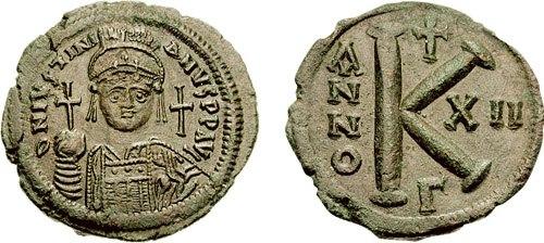 Half follis-Justinian I-sb0165