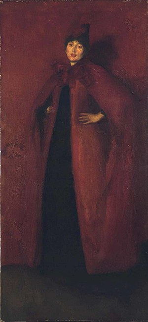 Beatrice Whistler - Harmony in Red: Lamplight used Beatrice as the model