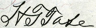 Harold Theodore Tate - Image: Harold Theodore Tate (Engraved Signature)