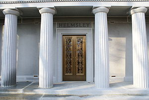 Leona Helmsley - The mausoleum of Harry Helmsley in Sleepy Hollow Cemetery