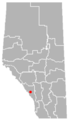 Harvie Heights, Alberta Location.png