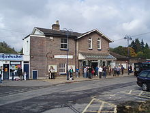 Photograph of the front of Haslemere railway station