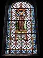 Haspres (Nord, Fr) église, vitrail Saint Achaire.JPG