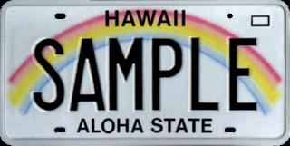 Vehicle registration plates of Hawaii Hawaii vehicle license plates