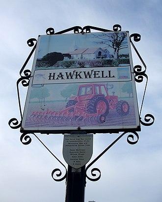 Hawkwell - Image: Hawkwell sign 1