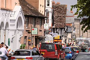 Hay Festival - Image: Hayfestival 2016 town traffic
