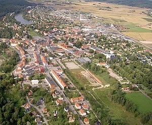 Hedemora - September 2007 aerial view of Hedemora