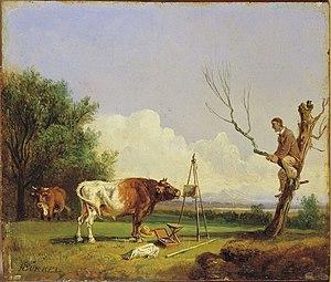 Heinrich Bürkel - Image: Heinrich Bürkel Stier und Maler