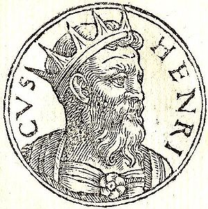 "Henry of Flanders - Henry from ""Promptuarii Iconum Insigniorum"""