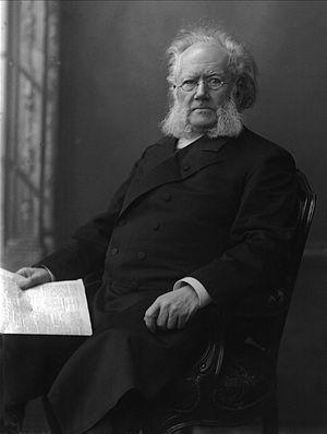 Peer Gynt (Grieg) - Henrik Ibsen, in a photograph by Gustav Borgen