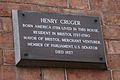 Henry Cruger commemorative plaque.jpg