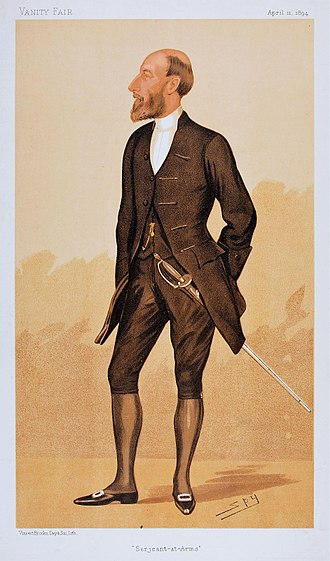 Serjeant-at-Arms of the House of Commons (United Kingdom) - Sir Henry Erskine, Serjeant-at-Arms, UK House of Commons. Caricatured by Vanity Fair, 1894