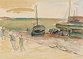 Henryk Epstein Kutry na plaży.jpg