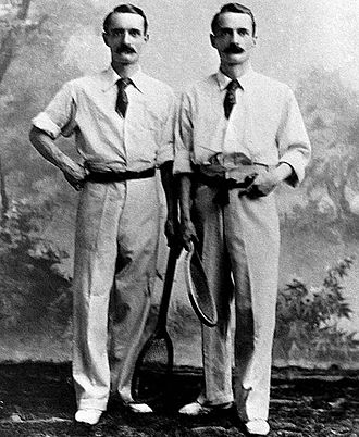 Herbert Baddeley - Herbert Baddeley (left) with twin brother Wilfred Baddeley (right)