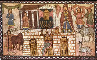 Dura-Europos synagogue - View of Herod's temple from the Mount of Olives