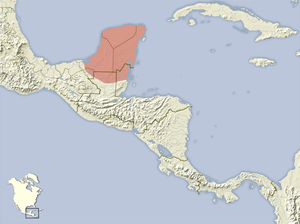 Heteromys gaumeri distribution map.png