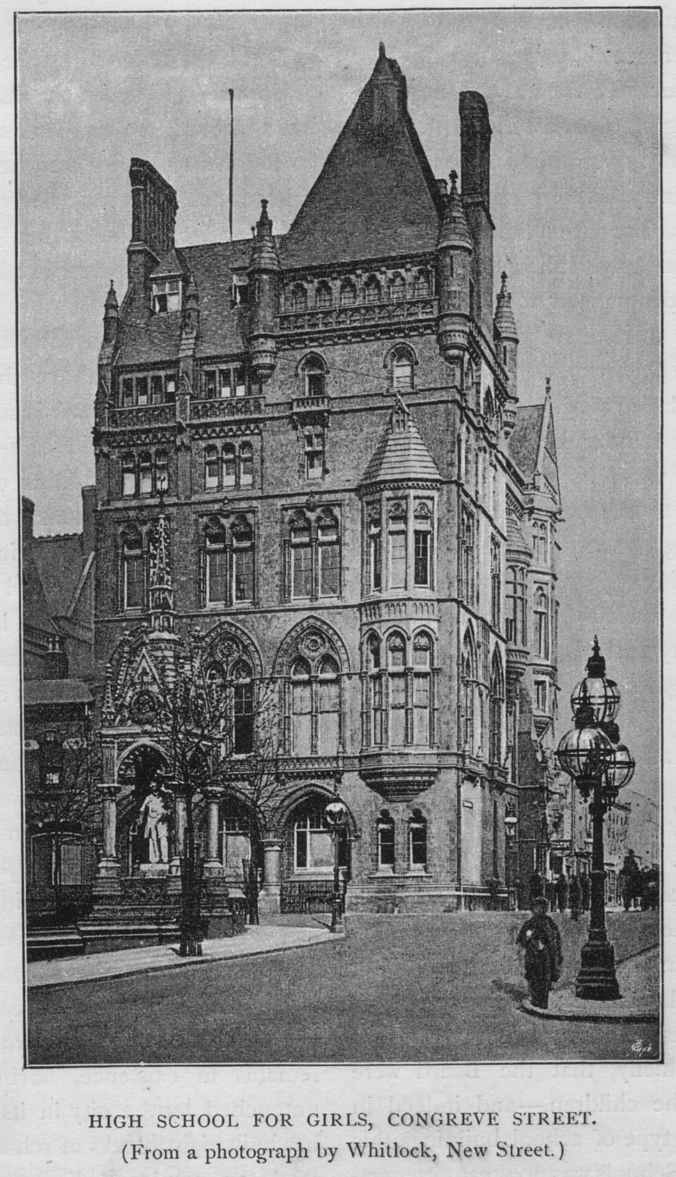 High School for Girls (KEHS), (The old Liberal Club), Congreve Street, Birmingham