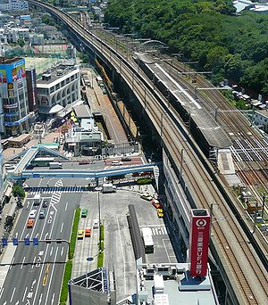 High angle view of Ouji Station.jpg