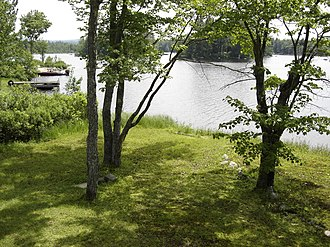 Highland Lake (Stoddard, New Hampshire) - The shores of Highland Lake in the summertime