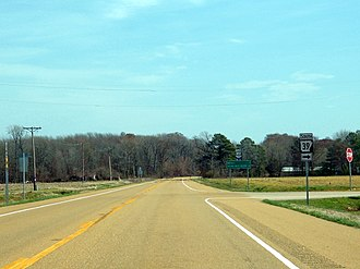 Arkansas Highway 39 - Northern terminus of Highway 39 at US 49