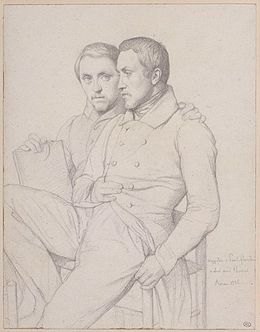 Hippolyte Flandrin - Double Self-Portrait of Hippolyte and Paul Flandrin.jpg