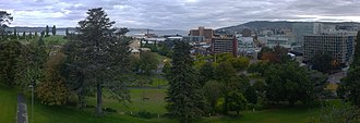 Hobart City Centre - Image: Hobart Panorama facing south west from glebe