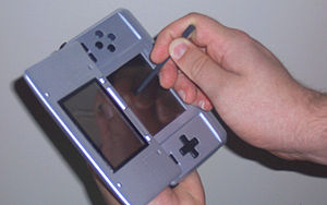 Brain Age: Train Your Brain in Minutes a Day! - Brain Age is played with the Nintendo DS held sideways.