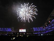 A Fireworks Display At The Stubhub Center