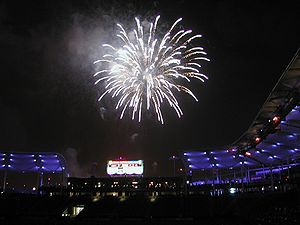 StubHub Center - A fireworks display at The StubHub Center