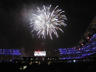 Dignity Health Sports Park - A fireworks display at Dignity Health Sports Park