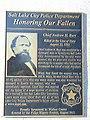 Honoring Our Fallon plaque, 200 S Main, Salt Lake City, Oct 16.jpg