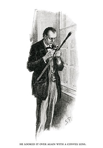 The Hound of the Baskervilles - Sherlock Holmes examining Dr Mortimer's walking stick