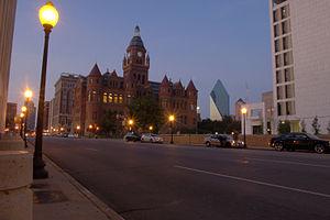Houston Street (Dallas) - Houston Street at dusk