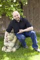 Howard Tayler with friendly gargoyle - full size.png